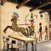 Пользовательские 3D Mural обои Нетканые ретро Джерси Характер Фреска Ресторан Гостиная Обои для стен Обои Стена Картина т мные обои для стен где