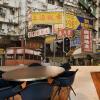 На заказ 3D-роспись Гонконг-стрит Шанхай улица сцена обои чай ресторан кофейня обои настенная роспись