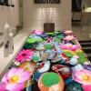 Бесплатная доставка Lotus галька ковровое покрытие 3D самоклеящиеся заносы пользовательских утолщенной полы ванной украшения 250cmx200cm сизаль ковровое покрытие в москве