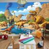 Пользовательские обои 3D Mural Обои Lakefront Dinosaur Tyrannosaurus Rex Детская комната Спальня Фотография Фон 3D Дети Обои