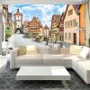 3D Country Style Настенная роспись Countryside Street And Houses Фото обои Постельное белье Телевизор с телевизором Под заказ Настенная бумага Mural