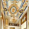 Пользовательские обои для фото 3D Стерео Европейский цветочный узор Гостиная Спальня Отели Потолочные настенные обои Обои для стен 3 D