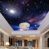 Пользовательские 3D-обои для фото Звездное небо Потолочные фрески Настенные покрытия Декор Гостиная Спальня Потолок Фрески Обои пользовательские 3d обои для фото звездное небо потолочные фрески настенные покрытия декор гостиная спальня потолок фрески обои