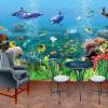 Пользовательские обои Mural Подводный мир 3D Стерео Детская комната Спальня Гостиная Телевизор Фон Стена 3D Photo Wallpaper