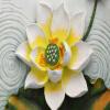 Пользовательские фото Wall Paper 3D Stereoscopic Lotus Relief Backdrop Living Room Large Wall Mural Обои Домашний декор Современная живопись