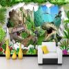 Обои для рабочего стола 3D мультфильм динозавров гостиная ТВ фон настенная роспись детская комната спальня фото фон обои фон для презентации черный