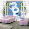 Обои для рабочего стола с настенной росписью с видом на море Дельфины с голубым небом Белое облако Любовное сердце Обои для домашних стен Диван гостиной