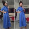 Lovaru ™ Fashion Casual New Women Dress Loose Pink Blue Осенние летние пляжные вечерние платья Vintage Women Long Dress bondibon студия дизайна вечерние платья