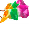 100% Шелковые поклонники танца живота Цвет градиента Аксессуары для танцев Шелковые поклонники танца живота Оранжевый+Зеленый+Роза обувь для танца живота jack dancer