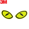 3M светоотражающие большие глаза безопасности предупреждают автомобиль царапины автомобильные наклейки автомобильные наклейки 10,3 * 6 см флуоресцентные оранжевые
