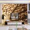 Пользовательские обои 3D Mural Современные абстрактные рельефные листья Стены Картина Гостиная Спальня Art Mural Обои Papel De Parede 3D большие пользовательские 3d обои mural обои зеленые листья потолочные фрески стены картина живопись гостиная спальня потолочные фоны обои 3d
