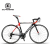EUROBIKE 50CM Carbon Frame 700C Racing BicycleEurobike 18 Speed ​​Road Bike bright road bike carbon fiber front fork black silver 700c 600g