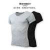Мужская футболка Giordano мужская V-образная вырезка из двух частей футболка с короткими рукавами хлопка тонкая нижняя рубашка 01247013 белый / черный большой размер (175 / 100A)