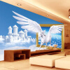 Пользовательские обои для фото Blue Sky White Clouds Horse Creative Art Living Room 3D Wall Mural Wall Wall Home Decor Modern Painting