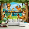 3D Wall Murals Красивый мультфильм Лесной мир животных Фото обои для детской комнаты Papier Peint Enfant Экологичные фрески