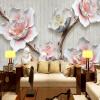 Пользовательские 3D-обои для фото 3D-тиснение Плюм Птица Современные Простые Большие росписи Обои для гостиной Спальни Стены Домашний декор