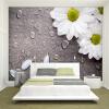 Пользовательские 3D-обои для фотографий Спальня для стен Белая вода Капли Цветочный фон Декоративные настенные обои Обои Гостиная самые дешевые обои для стен брянск