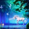 Персонализированная настройка 3D Stereo Fairy Tale Forest Флуоресцентная белая лошадь Фотообои Обои для рабочего стола Зал для гостиной Fresco a fairy tale