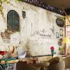 Пользовательские обои для рабочего стола Фрески Классические Старые уличные стены Фото Париж Кухня Кафе Ресторан Заставка Обои Бумага Papel De Parede 3D голубое небо белые облака зеленые листья голуби потолочные фрески пользовательские фото бумага