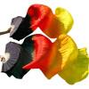 качества 100% шелковые вуали Вентиляторы 1шт левые вентиляторы + 1шт правые вентиляторы Черный + красный + оранжевый + желтый вентиляторы