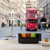 Пользовательские 3D-обои для рабочего стола Домашний декор Стена Картина Лондонский уличный вид Улица Красный автобус Mural Гостиная Диван ТВ Фон Стена 3d головоломка лондонский автобус 90129