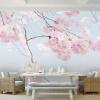 Пользовательские обои для фото Cherry Blossom Beautiful Floral Wall Mural Backdrop Living Room 3D Room Ландшафтные обои Home Decor