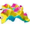 1 пара Шелковые поклонники танца живота Натуральный шелк Танец танца живота Танцевальные шелка Роза + желтый+ Бирюзовые полосы танец живота уроки саломеи сd с видеокурсом