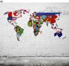 На заказ 3D-роспись Ретро-карта мира