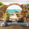 Пользовательские обои настенные обои Сад Каменные арки Sea View 3D Фото обои для гостиной Диван Спальня Backdrop Большие фрески v8 sea view ex view talay marina beach 3 паттайя