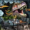 Пользовательские фото Обои на рабочий стол 3D Динозавры Стена Картина Mural Обои Спальня KTV Бар Фон Обои настенные обои Домашний декор