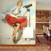 Marilyn Monroe Retro Wallpaper Custom European Style Movie Star Настенная панно для постельных принадлежностей