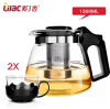 Lilac heat-resistant glass teapot set thick glass tea tea tea tea pot filter pot kettle special offer wholesale manufacturers zisha tea pot set storage tank fuwa gift tea set collocation store mixed batch