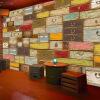 Пользовательская 3d-роспись Ретро-обои цвет дерева Контейнер Магистральный ресторан кафе KTV большой росписи обои пользовательская 3d роспись пользовательские ретро кирпичные обои обои росписи ресторана ресторана ktv обои для рабочего стола