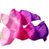 Любители танцев100% Шелковые вентиляторы Цветные 180 см Женщины Танец живота Шелковые вентиляторы 2pcs Розовый+розовый+фиолетовый
