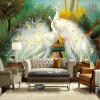 Пользовательские обои 3D Mural Красивый белый павлин Лесной пейзаж Живопись Fresco Living Room Ресторан Спальня Искусство обои флизелиновые обои fresco av secrets 5040 2