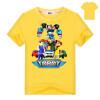 2018 Robot Tobot Футболка для мальчиков Детская летняя одежда Новые мультяшные печатные топы Тройники Синяя футболка для детей Кос