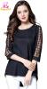 L -5XL плюс размер шифон элегантный летом 2018 плед черный длинный блузка женщин большой размер 3/4 рукав свободные случайные casual scoop neck short sleeves striped openwork dress for women