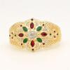 Великолепные моделирование ювелирных изделий женщин цветок браслет манжеты полые смолы ювелирные изделия браслет Индии свадебные у