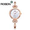 ROSDN бренд Имитация позолоченные круги ремешок из нержавеющей стали Назад Shinning женщин браслет часы Мода наручные часы