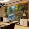 Custom 3D Wall Mural Обои Roll Романтический Лебедь Гостиная Спальня Телевизор Фон Домашний декор Нетканые обои Обои для стен обои для стен в нижнем онлайн