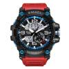 Military Watches Army Men's Wristwatch LED Quartz Watch Digtial Dual Time Men Clock 1617 reloj hombre Sport Watch Army