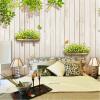 Пользовательские 3D-обои для фото Современная деревянная доска Green Grass Mural Балкон Гостиная Диван-фон Настенный домашний декор Papel De Parede