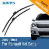 SUMKS Wiper Blades for Renault Vel Satis 28&26 fit side pin type wiper arms 2002 2003 2004 2005 2006 2007 2008 2009 2010