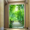 Пользовательские обои для фото 3D сценические обои настенные бамбуковые лесные дороги коридор гостиная фоновая картинная роспись бамбуковые обои каширский двор 3