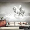 Пользовательские фото Wall Paper 3D White Horse Large Mural Обои Гостиная Диванная роспись Обои для спальни для спальни Контактная бумага для спальни