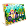 TOI Wooden Jigsaw Puzzle with Storage tray (24/48/80/100pcs) for kids virgo the wooden puzzle 1000 pieces ersion jigsaw puzzle white card adult heart disease mental relax 12 constellation toys