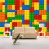 Пользовательский размер 3D Обои для стен Обои для гостиной Lego Bricks Детский магазин игрушек для спальни Нетканая роспись обоев для обоев декоративные шумопоглощающие панели для стен