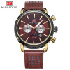 MINI FOCUS Famous Top Brand Men Quartz Watch Leather Sport Men's Wrist Watch MF0010G bobo bird men s wood bamboo wrist watch antique unique design men top brand sport wooden quartz wrist watches custom logo