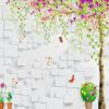 Пользовательские обои 3D Mural для стены Нетканые мультяшные деревья Кирпичная стеновая бумага Домашний декор Room TV Sofa Backdrop Straw Wall Cover custom tree bark textures wallpaper restaurant living room tv sofa wall background children bedroom 3d mural papel de parede