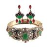 Урожай Тульские серьги с бриллиантами для женщин устанавливают антикварные золотые украшения из цветных ювелирных изделий из смолы